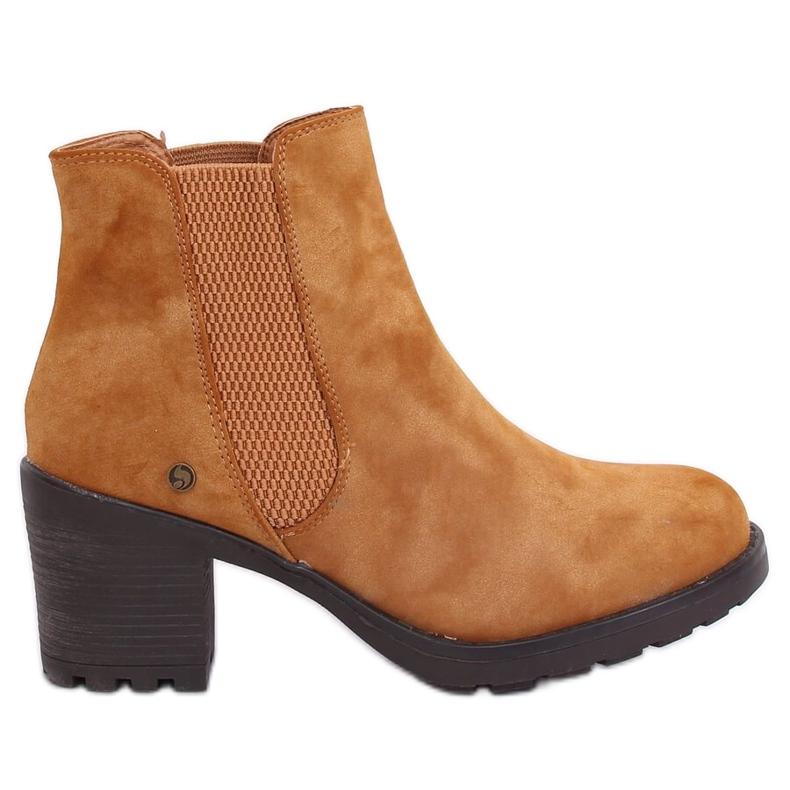 Camel Chelsea boots L2065 Camel brown