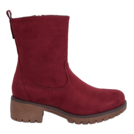 Boots on the maroon 8B905 Wine protector red