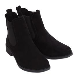 Black Jodhpur boots B-6856 Black