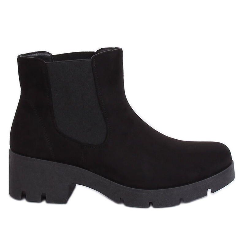 Black Chelsea boots with thick soles 9996-6 Black