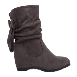 Gray Wedge boots H8120 Gris grey