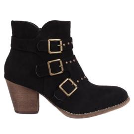Black cowboy boots L88-162 Black
