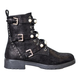 Bella Paris High Boots With Beads black