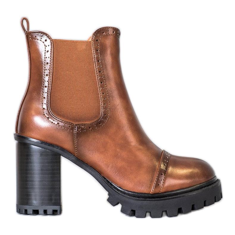 Seastar Slip-on Boots On The Platform brown