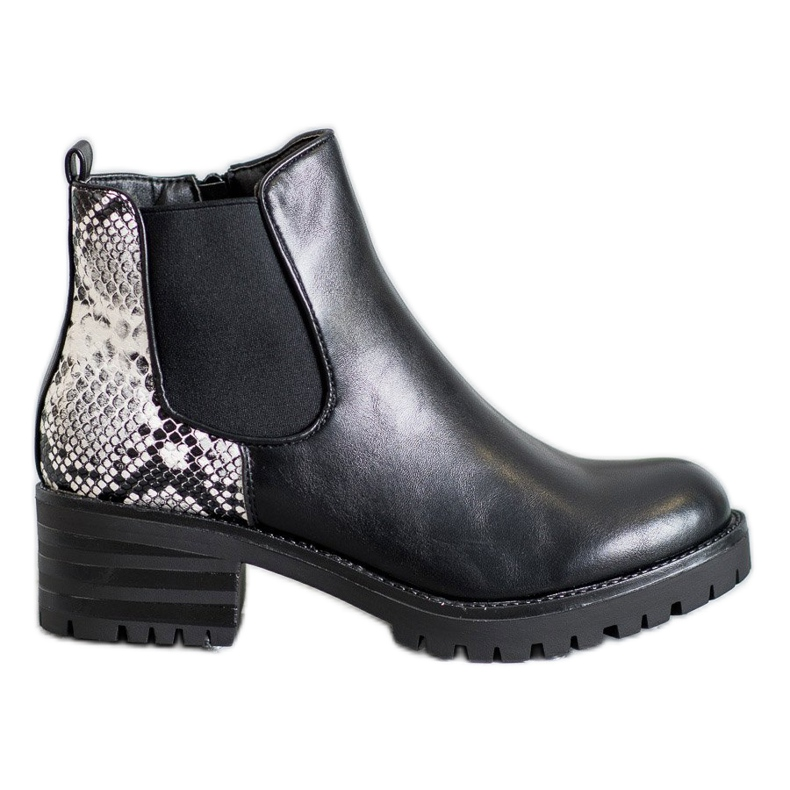 Seastar Chelsea Boots With Pattern black