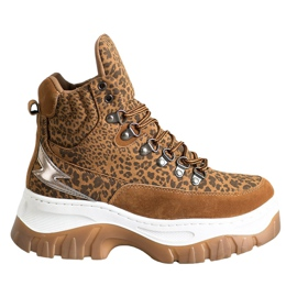 Seastar Fashion lace-up boots brown