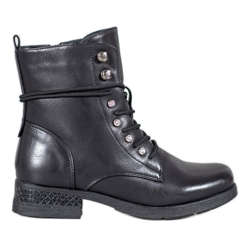 SHELOVET Eco-leather boots black