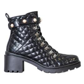 Seastar Quilted Platform Boots black