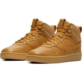 Nike Court Borough Mid 2 Boot Jr BQ5440-700 shoes brown