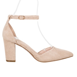 Elegant VINCEZA Pumps brown