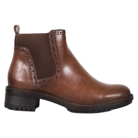 Filippo Brown Ankle Boots With Eco Leather