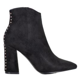 Seastar Sexy Boots With Rhinestones black