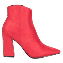 Seastar Sexy Boots With Rhinestones red