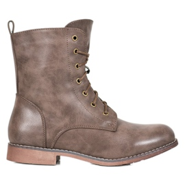 Super Me High Boots With Eco Leather brown