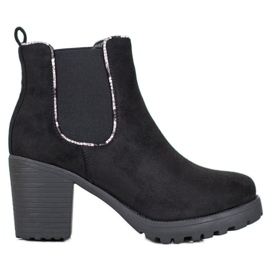 Erynn Suede Jodhpur Boots On The Platform black