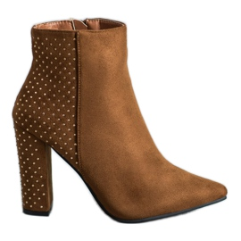 Seastar Suede Boots With Cubic Zirconia brown