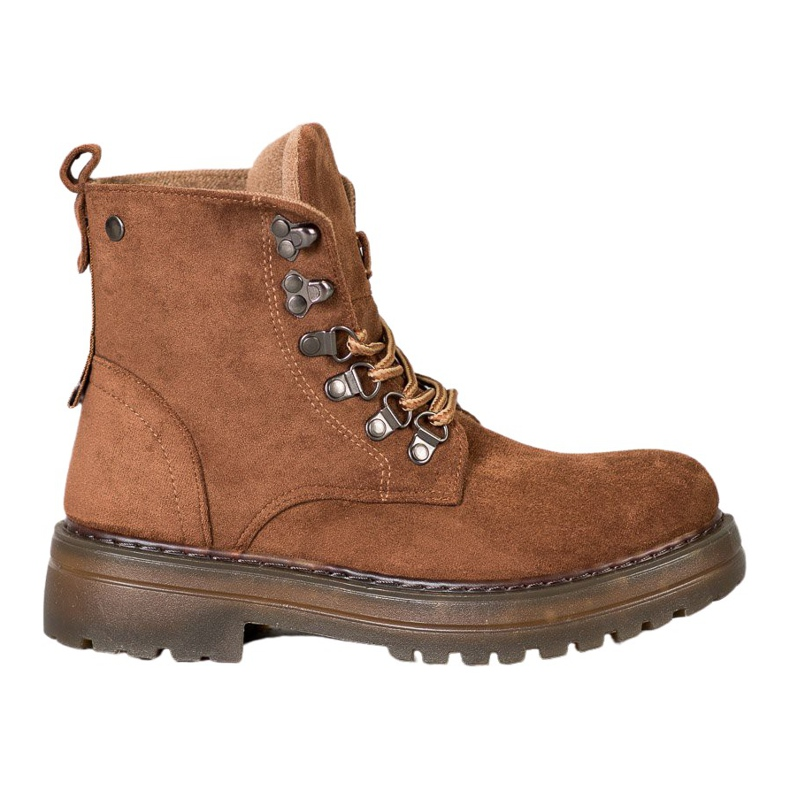 SHELOVET Laced Trappers brown