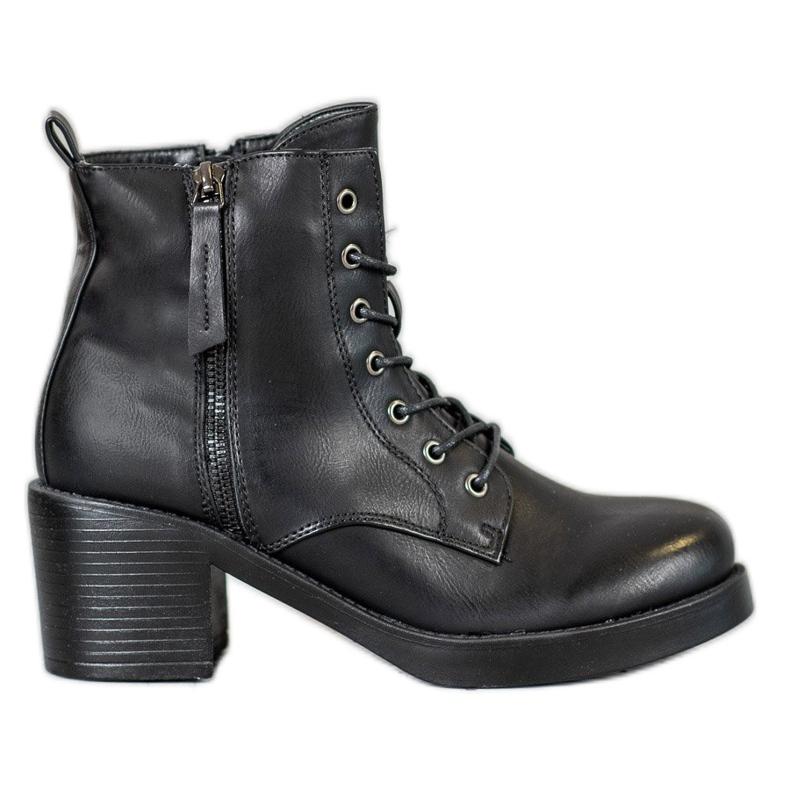 SHELOVET Lace-up Ankle Boots black