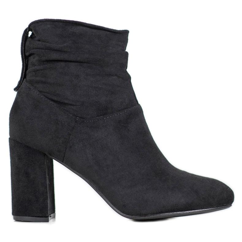 SHELOVET Classic high-heeled boots black