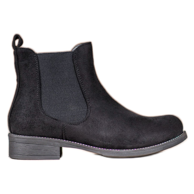 SDS Chelsea boots with crystals black
