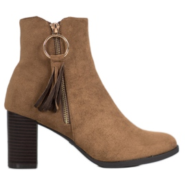 Filippo Stylish Suede Booties brown