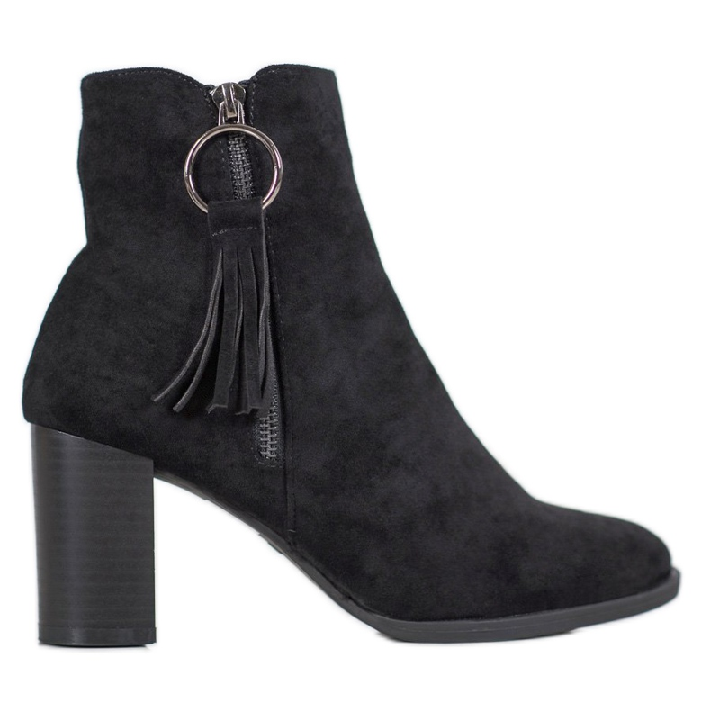 Filippo Stylish suede boots black
