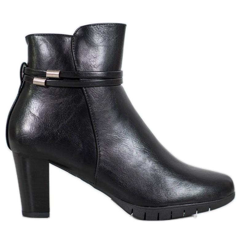 Classic boots on a post black