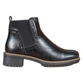 Filippo Black Boots With Eco Leather