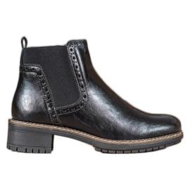 Filippo Black Eco Leather Booties