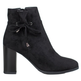 Goodin Booties With Bow black