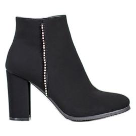 Seastar Matt Boots With Cubic Zirconia black