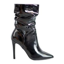 Seastar Varnished Ankle Boots black