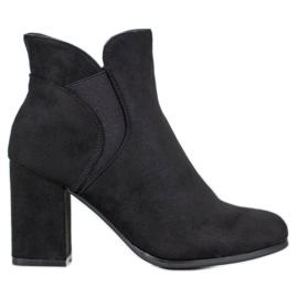 Marquiz Slip-on Suede Boots black