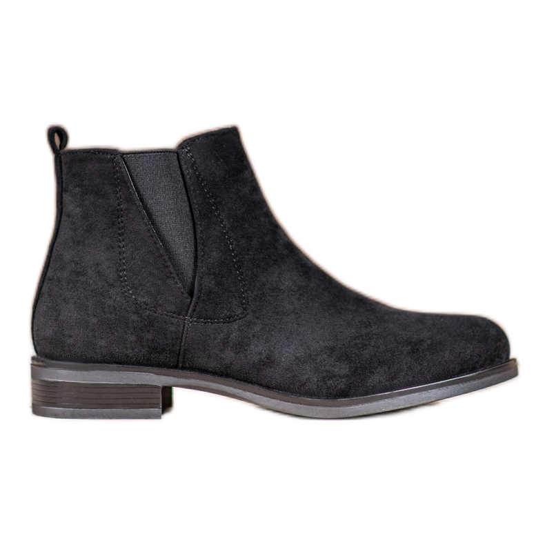 Ideal Shoes Slip-on boots black