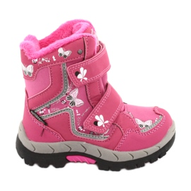 American Club boots with a membrane HL28 pink butterflies