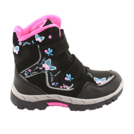 American Club boots with a HL27 membrane butterflies black