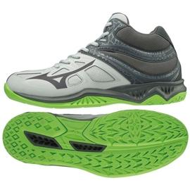 Mizuno Thunder Blade 2 Mid M V1GA197537 shoes gray / silver grey