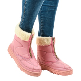 Pink snow boots ankle boots 69