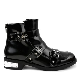 Black insulated boots A-388