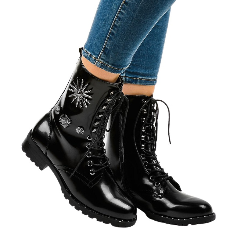 Black SA8023 workery boots