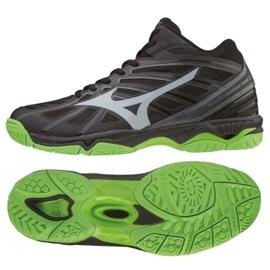 Mizuno Wave Hurricane 3 Mid M V1GA174537 shoes black black