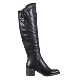 Black boots from VINCEZA