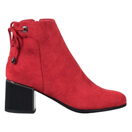 Goodin Red Suede Boots