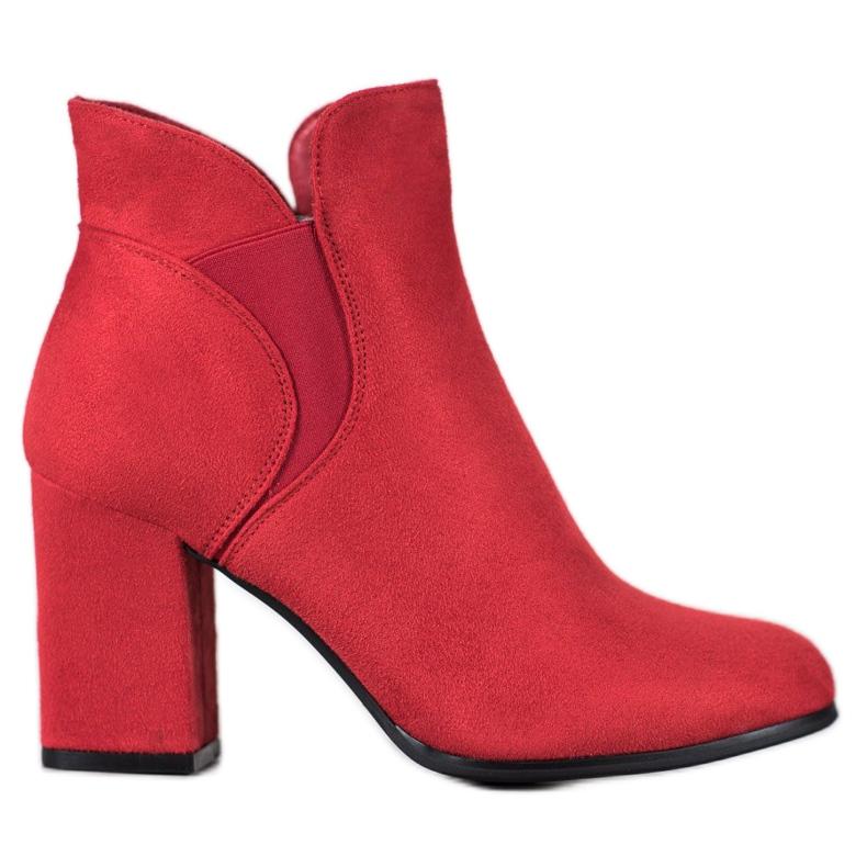 Marquiz Slip-on Suede Booties red