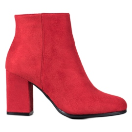 Marquiz Red Suede Boots