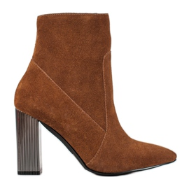 Goodin Sexy leather boots brown