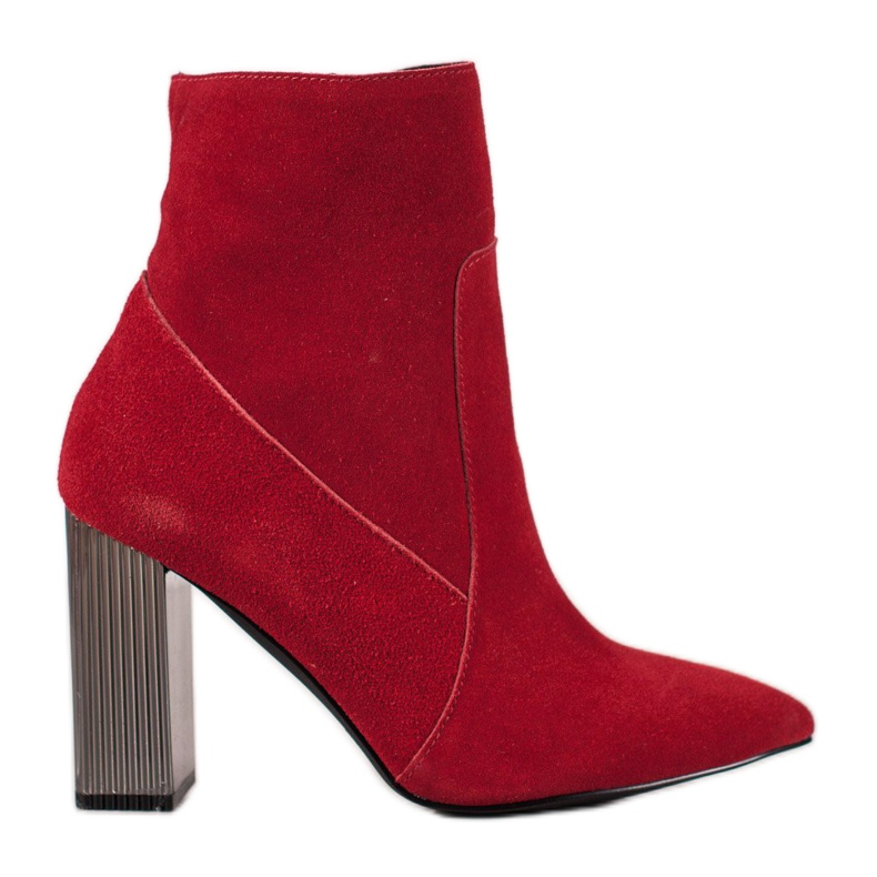 Goodin Sexy leather boots red