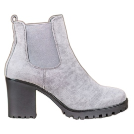 Queentina Chelsea Boots On A Bar grey