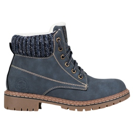 Goodin Trappers With sheepskin blue