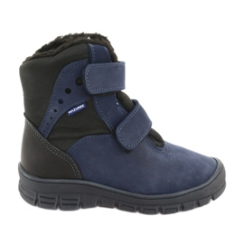 Boots with a membrane Mazurek 1353 navy blue
